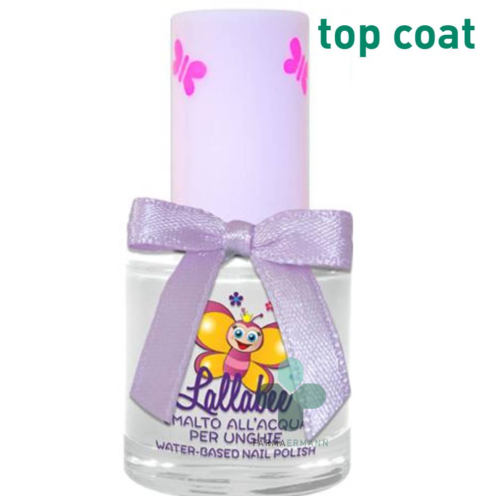 Harmonianat Lallabee Smalto all'acqua per bambine top coat fissativo lattemiele (9 ml)