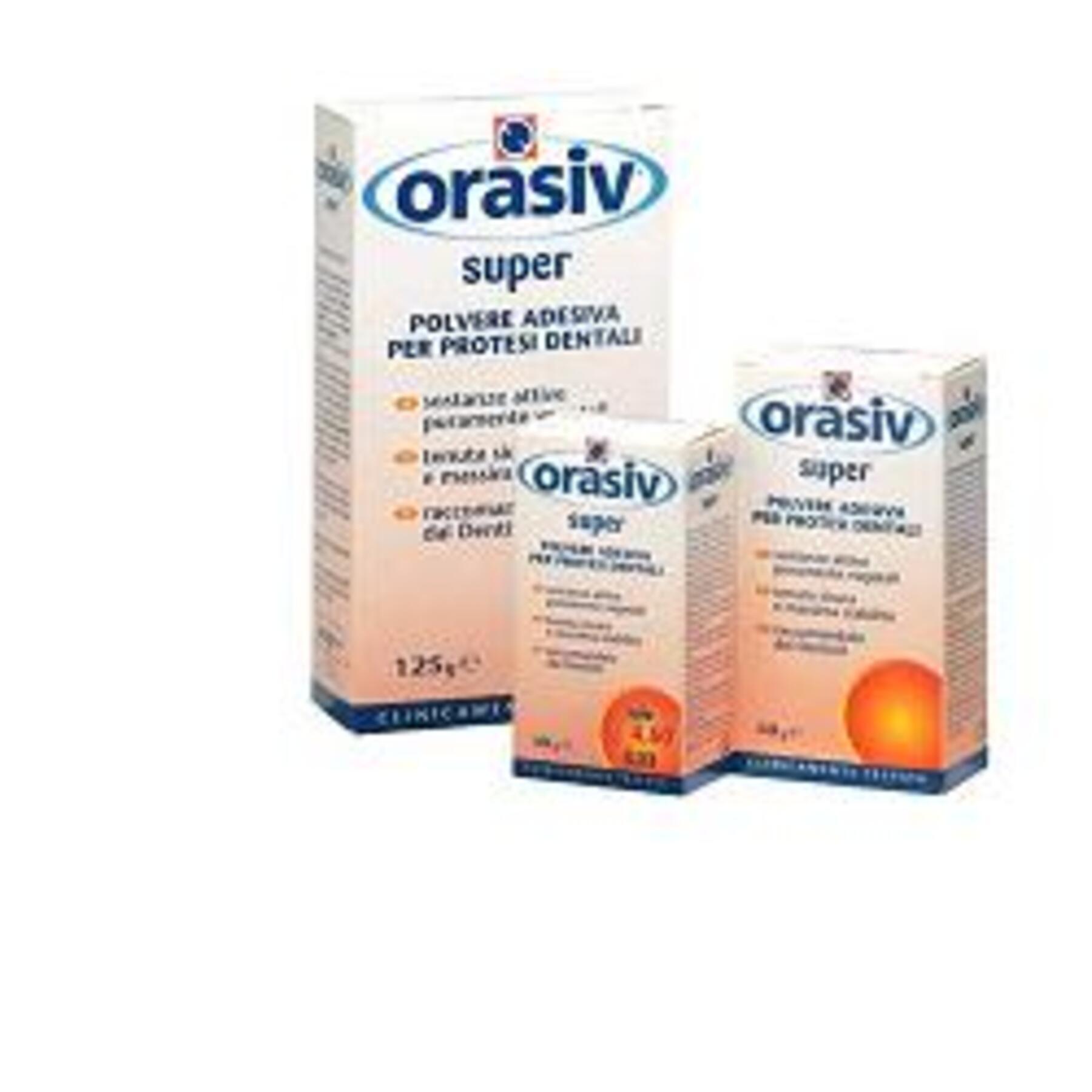 nova argentia srl ind. farm orasiv super polvere adesiva clinica per protesi dentali 125 g