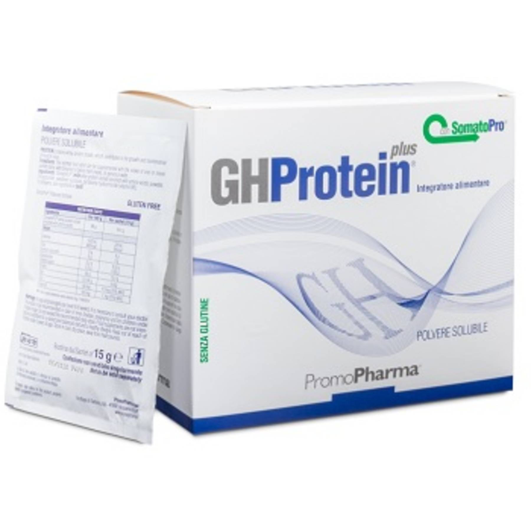 promopharma spa gh protein plus cacao 20 bustine