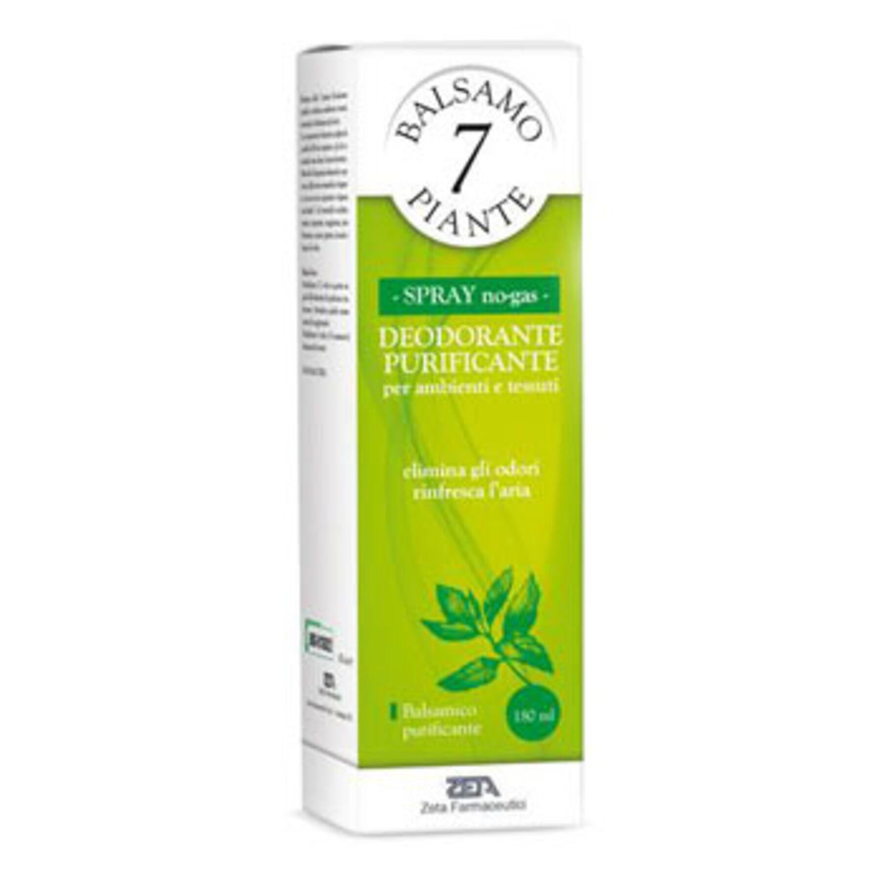 zeta farmaceutici spa balsamo delle 7 piante balsamico deodorante purificante per ambienti e tessuti pompa spray + astuccio 180 ml