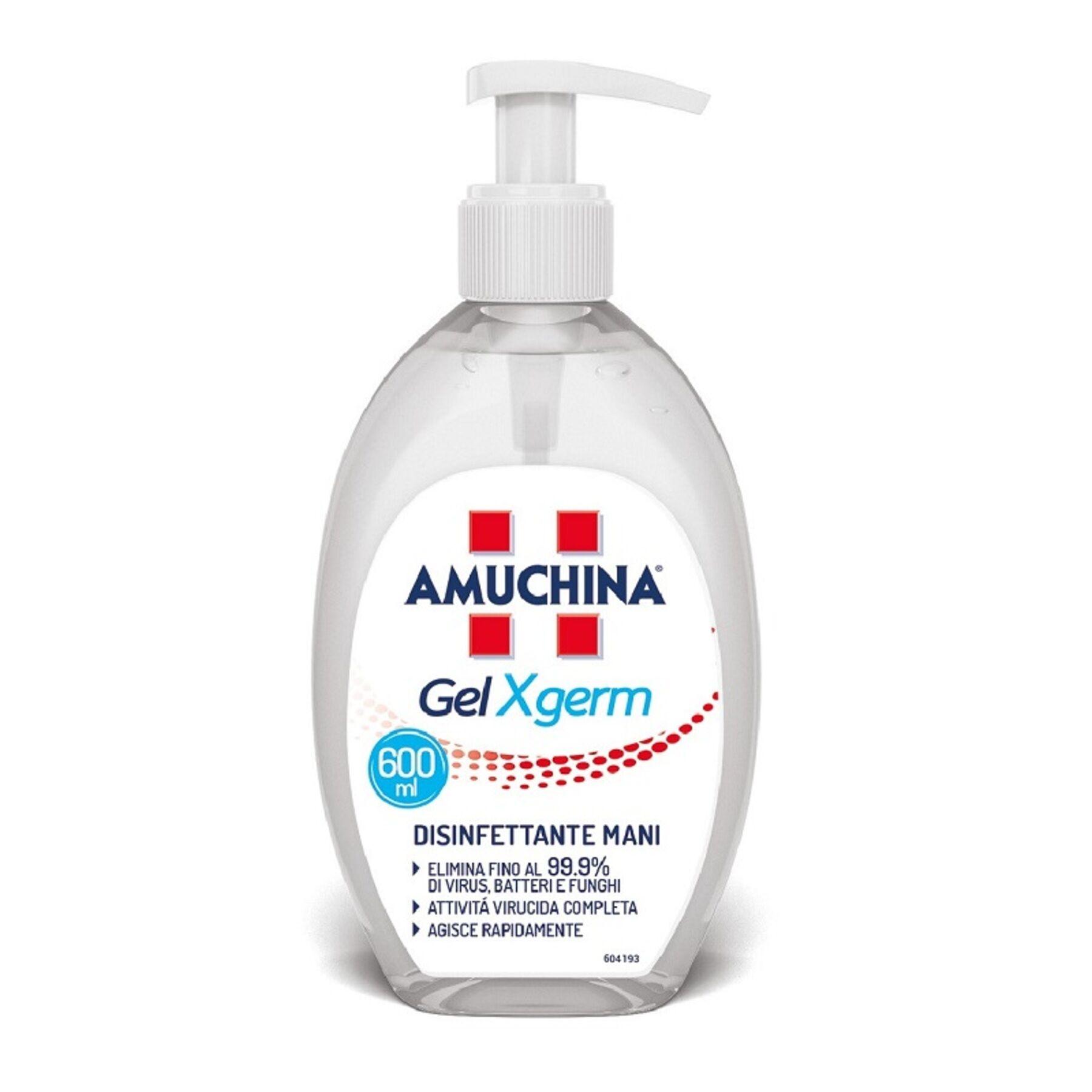 angelini amuchina gel disinfettante mani antisettico x germ (600 ml)