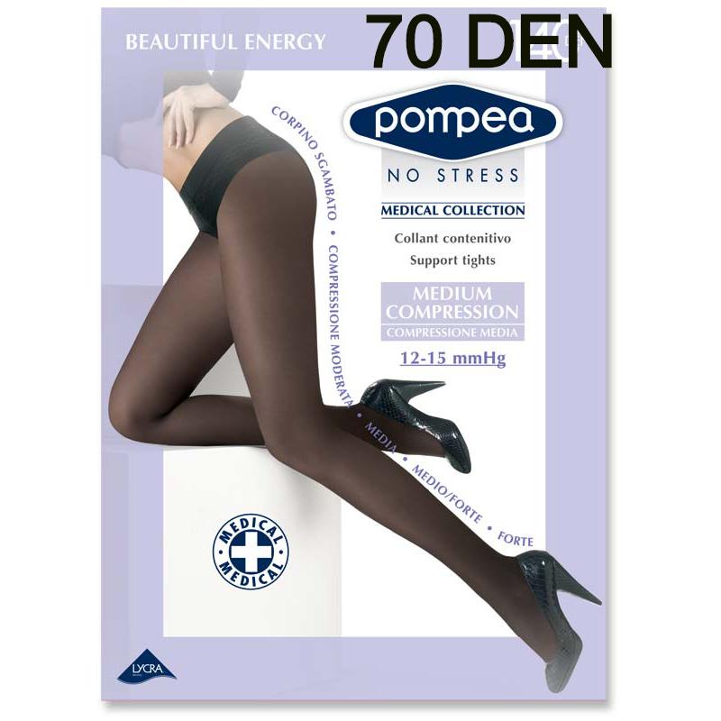 pompea collant contenitivo beautiful energy 70 denari compressione leggera colore nero taglia 4