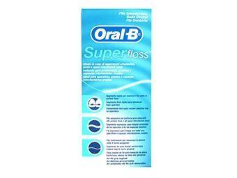 Procter & Gamble Oral B SuperFloss filo interdentale pretagliato (50 fili)