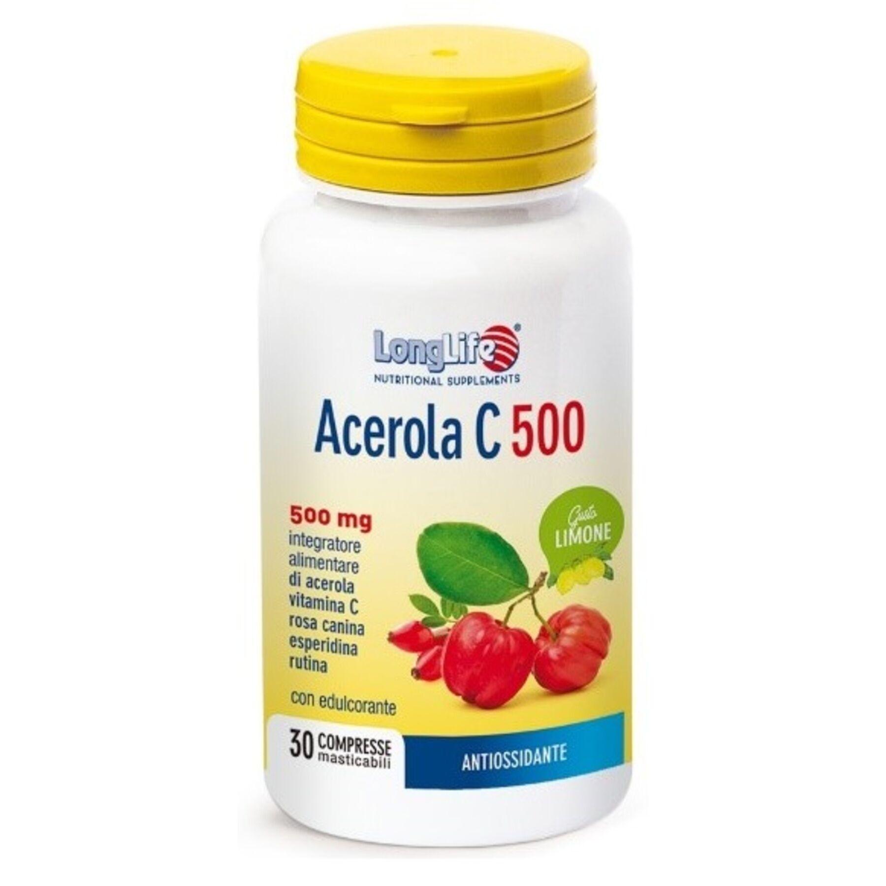 Phoenix Longlife acerola c500 limone 30 compresse