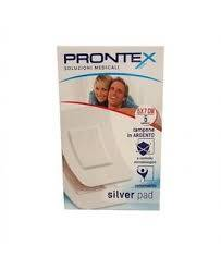 Safety Prontex Silver Pad Compresse con tampone in Argento 5x7cm (5 pz)