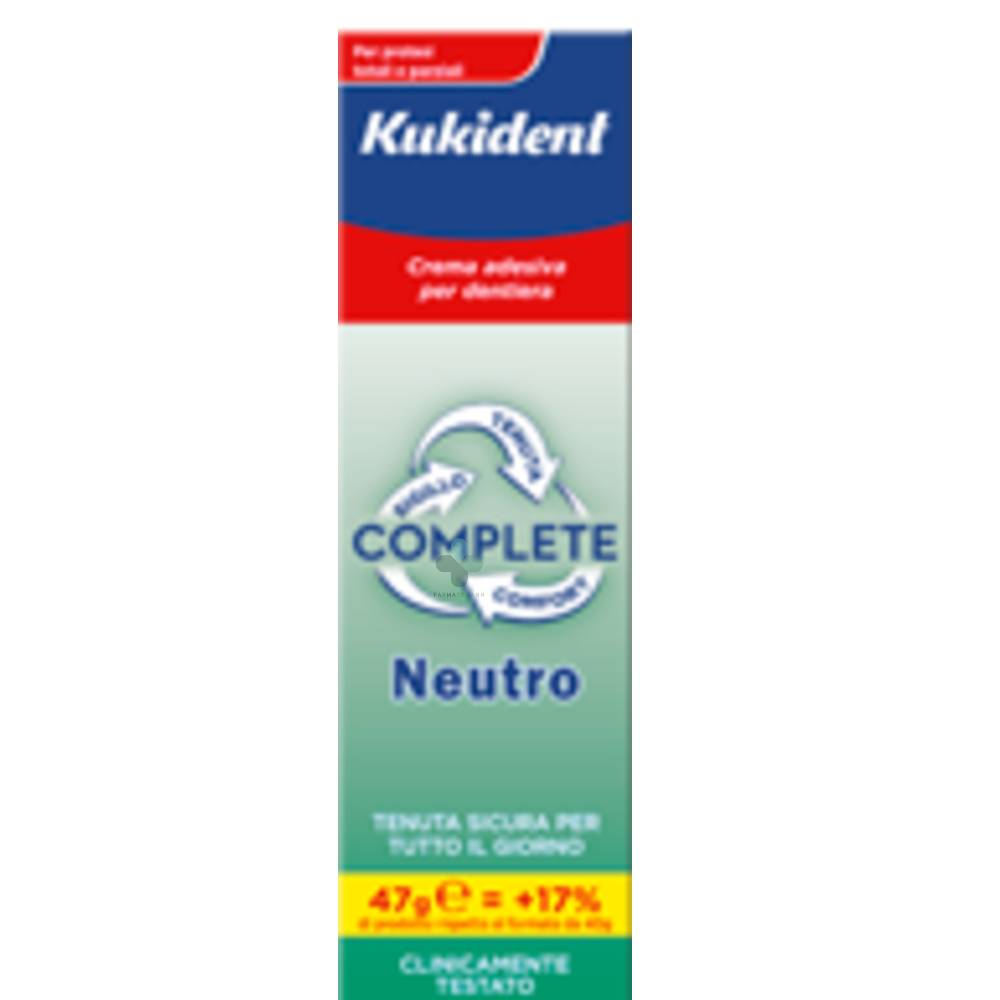 Procter & Gamble Kukident Neutro Complete crema adesiva protesi dentali (47 g)