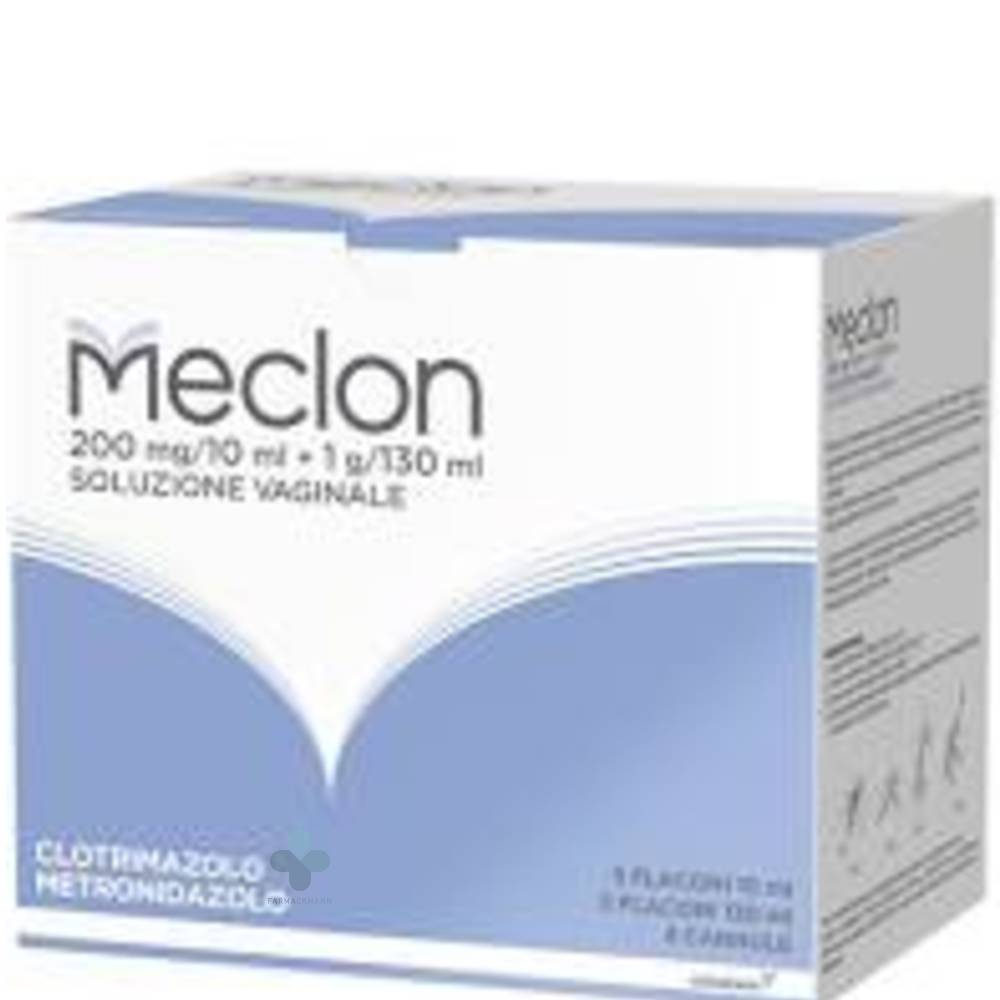 Alfasigma Meclon soluzione vaginale 200mg/10ml +1g/120ml (5 flaconi)