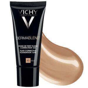 Vichy DermaBlend Fondotinta correttore fluido 16h numero 45 nuance Gold (30 ml)