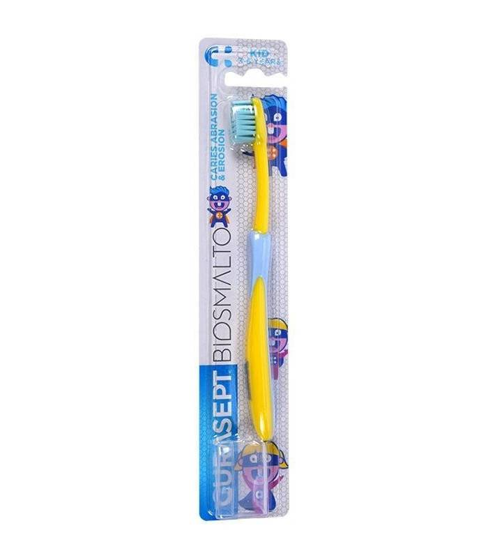 Curaden Curasept Biosmalto spazzolino kid morbidissimo per bambini 3-6 anni + cappuccio (1 pz)