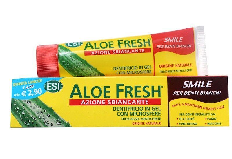 esi dentifricio in gel aloe fresh smile sbiancante (100 ml)
