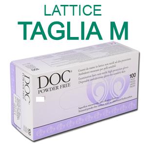 DOC Guanti in lattice senza polvere taglia M (100 pz)