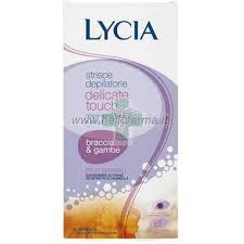 Lycia Delicate Touch Strisce depilatorie pelle sensibile Braccia e Gambe (20 pz)