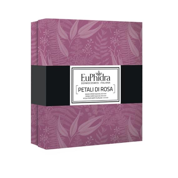 Zeta farmaceutici Euphidra Cofanetto Petali di rosa per tutta la famiglia (250ml + 200ml + 125ml)