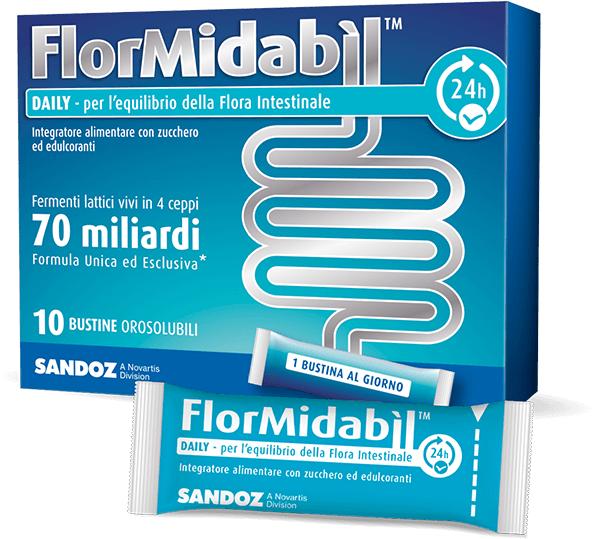 Sandoz FlorMidabil Daily 70 miliardi fermenti lattici vivi (10 bustine orosolubili)
