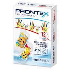 Safety Prontex Smile Strips Cerotti sterili impermeabili con disegni (12 pz)