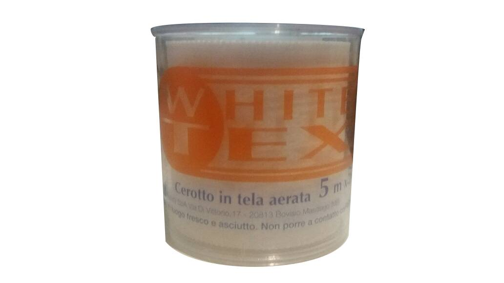 Safety Prontex White Tex Cerotto in tela aerata 5mx5cm (1 rocchetto)