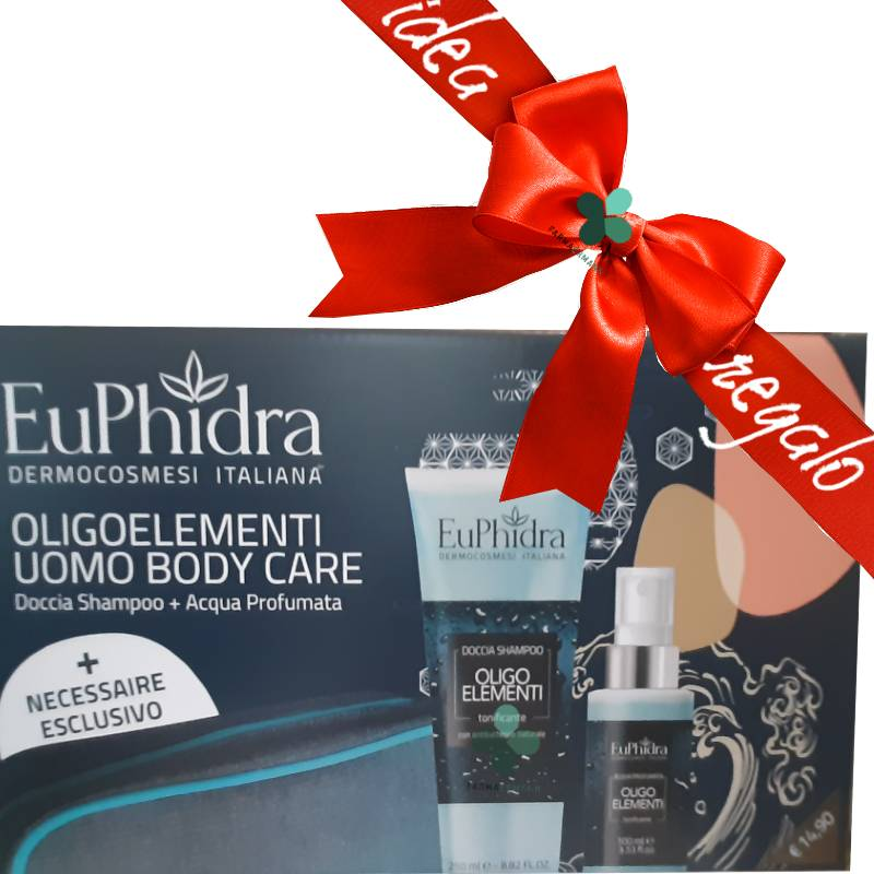 Zeta farmaceutici Euphidra Uomo beauty box corpo idee regalo (doccia shampoo 250ml + acqua profumata spray 100ml + necessarie omaggio)