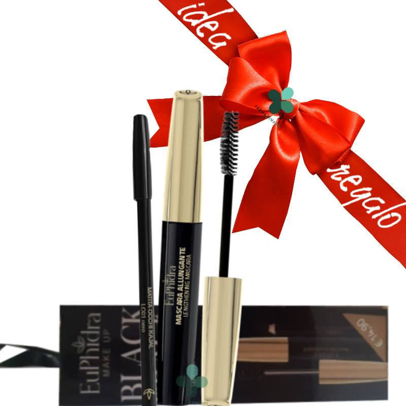 Zeta farmaceutici Euphidra Make up cofanetto Black is Back idee regalo donna (mascara allungante + matita nera)