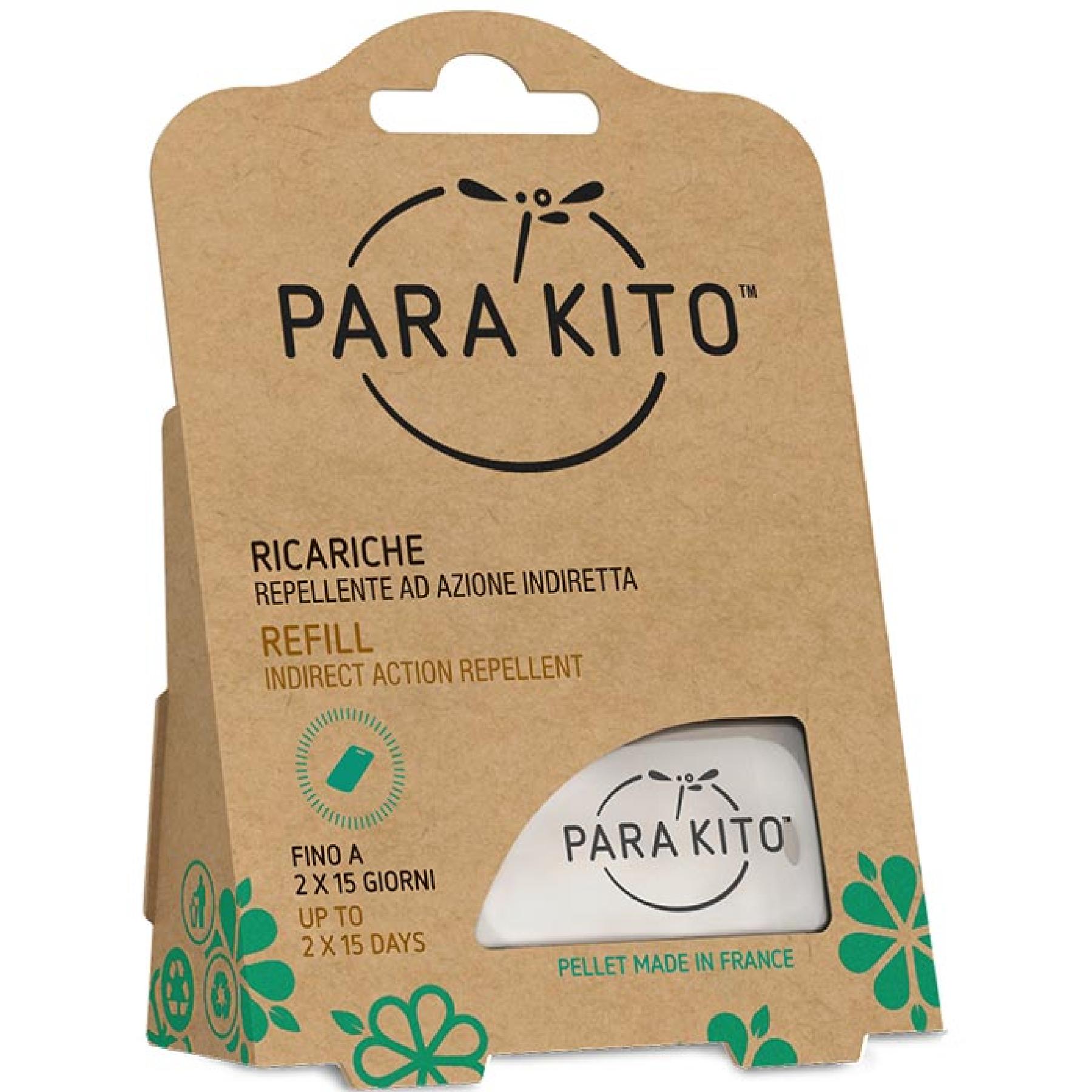 Parakito piastrine repellenti antizanzare per ricarica braccialetto (2 pz)