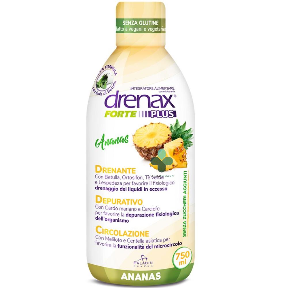 glaxosmithkline drenax forte plus ananas esotico (750 ml)
