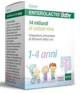 Sofar Enterolactis Baby gocce fermenti lattici vivi per bambini da 1 a 4 anni (flacone 8ml)