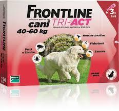 Merial Italia Frontline Tri act soluzione antiparassitario spot on per cani da 40 a 60kg (3 pipette)