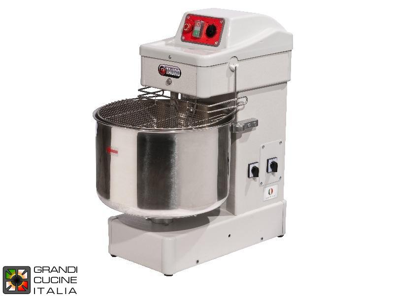Sigma Grandicucineitalia.it - Attrezzature per ristorazione - Impastatrice a Spirale - Capacità 32 Litri - Testa Fissa - Doppia Velocità - 220V - Cod. TAURO25-2VMN - Sigma