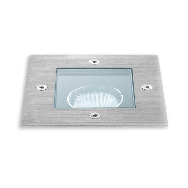 Linea Light Texo 2 - Faretto carrabile quadrato - Acciaio Inox