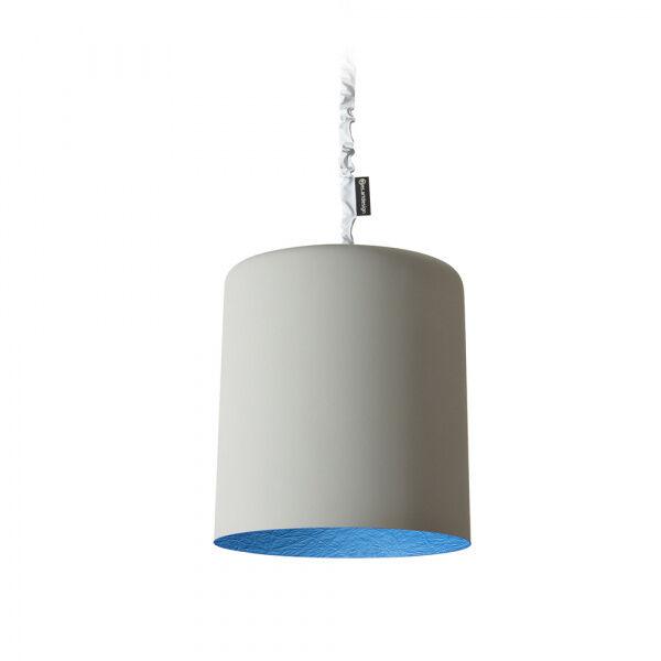 in-es.artdesign lampada a sospensione bin cemento - grigio / blu
