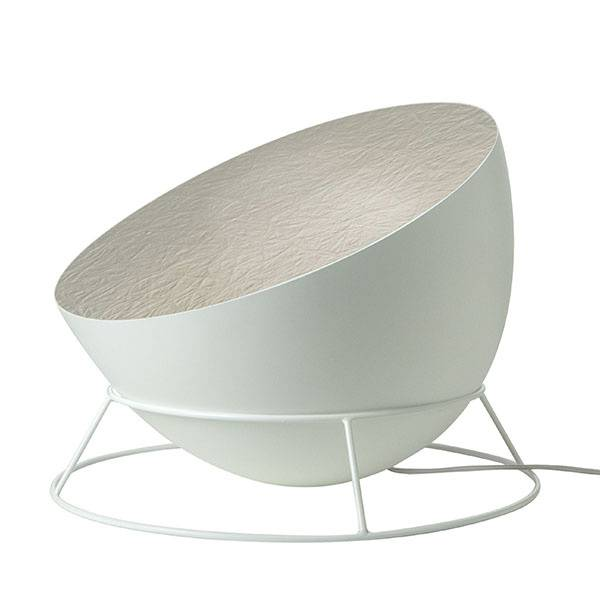 in-es.artdesign lampada da terra h2o f - bianco / argento