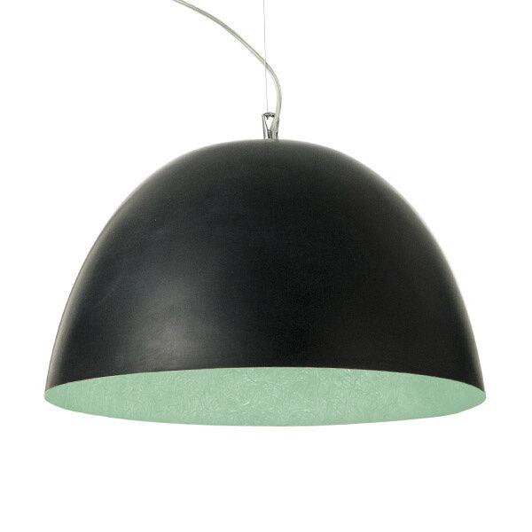 in-es.artdesign lampada a sospensione h2o - nero/turchese