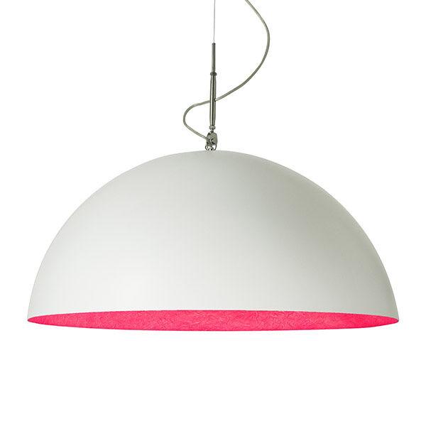 in-es.artdesign lampada a sospensione mezza luna 2 - bianco / magenta