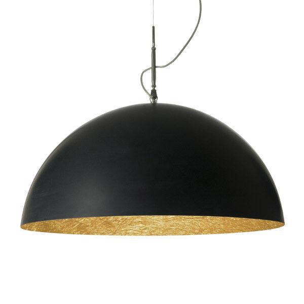 in-es.artdesign lampada a sospensione mezza luna 2 - nero/oro