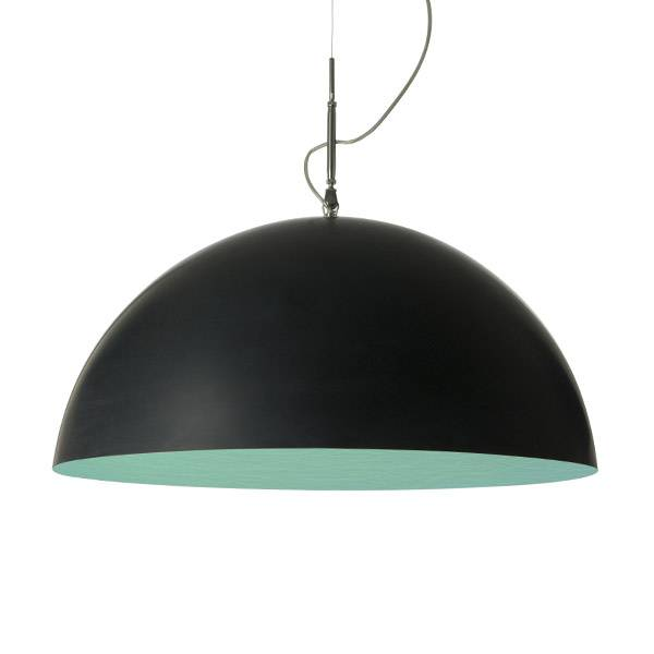in-es.artdesign mezza luna 2 lavagna sp - nero/turchese