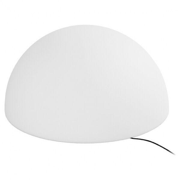 linea light ohps! - lampada da terra a forma di mezza sfera da esterni m - natural