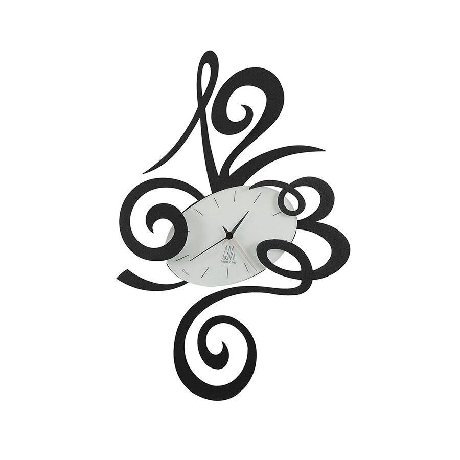 ARTI E MESTIERI orologio da parete ROBIN (Nero - Metallo e vetro)