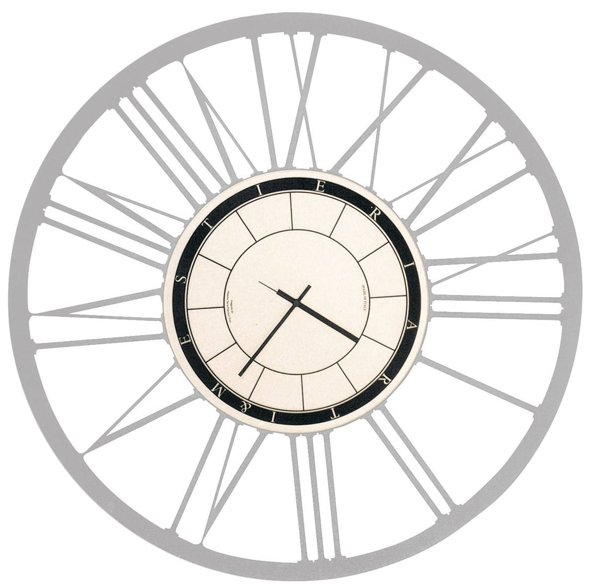 ARTI E MESTIERI orologio da parete BIG (Alluminio - Metallo)