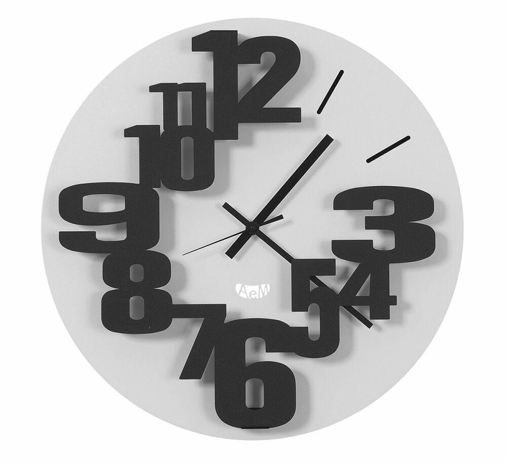 ARTI E MESTIERI orologio da parete BIG PERSEO (Nero / Bianco - Metallo)