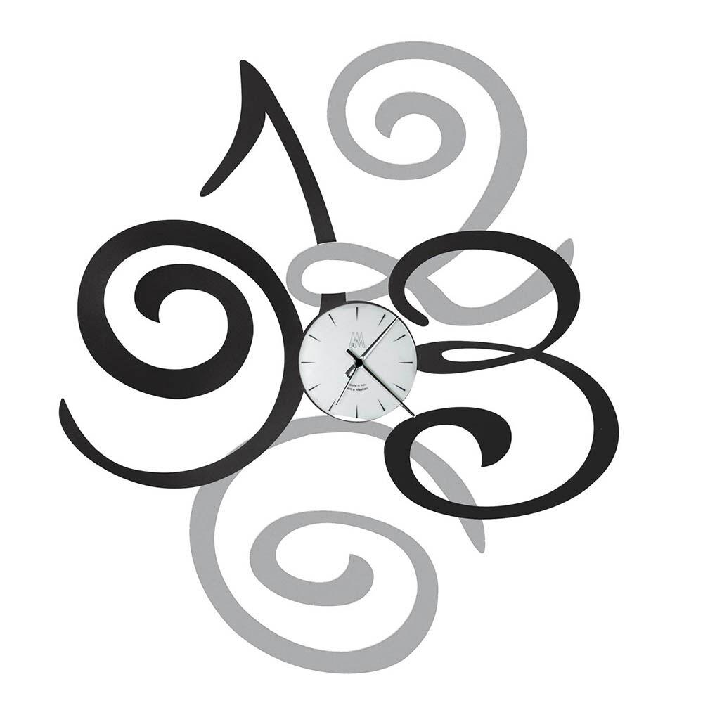 ARTI E MESTIERI orologio da parete FILOMENA (Alluminio / Antracite - Metallo e vetro)