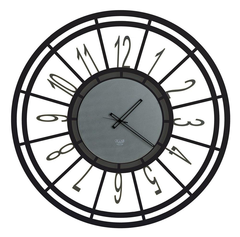 ARTI E MESTIERI orologio da parete TOP (Nero - Metallo)