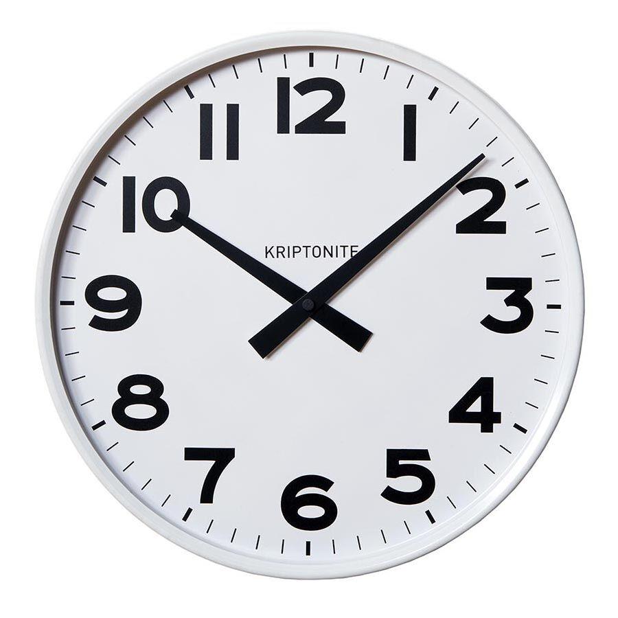KRIPTONITE orologio da parete CLASSICO BIANCO (Ø 42 cm bianco - Alluminio anodizzato e vetro)