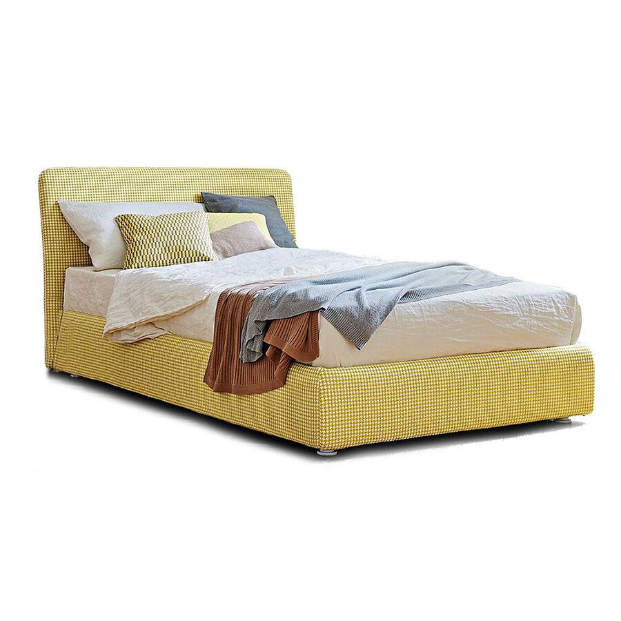 BONALDO letto contenitore singolo TONIGHT OPEN con rete 120x200 cm (Cat. Ponza - Pelle)