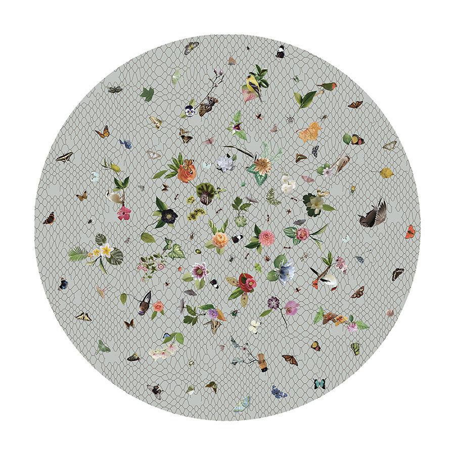 MOOOI CARPETS tappeto GARDEN OF EDEN ROUND Signature collection (Grigio chiaro Ø 250 cm - Poliammide)