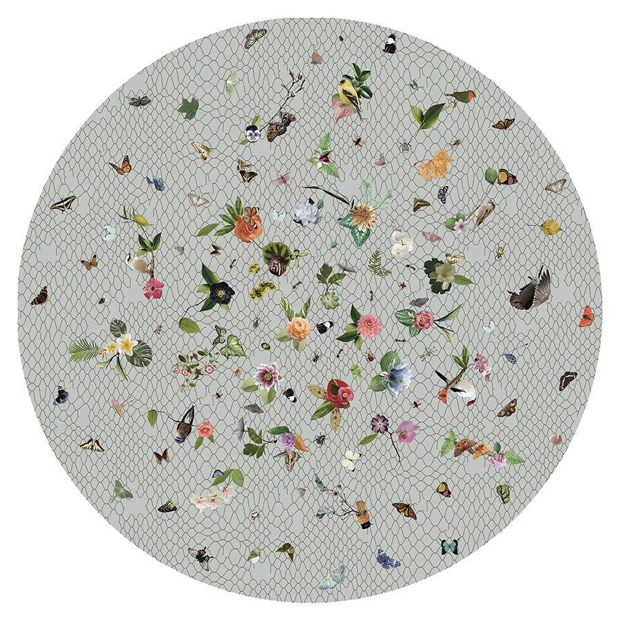 MOOOI CARPETS tappeto GARDEN OF EDEN ROUND Signature collection (Grigio chiaro Ø 350 cm - Poliammide)