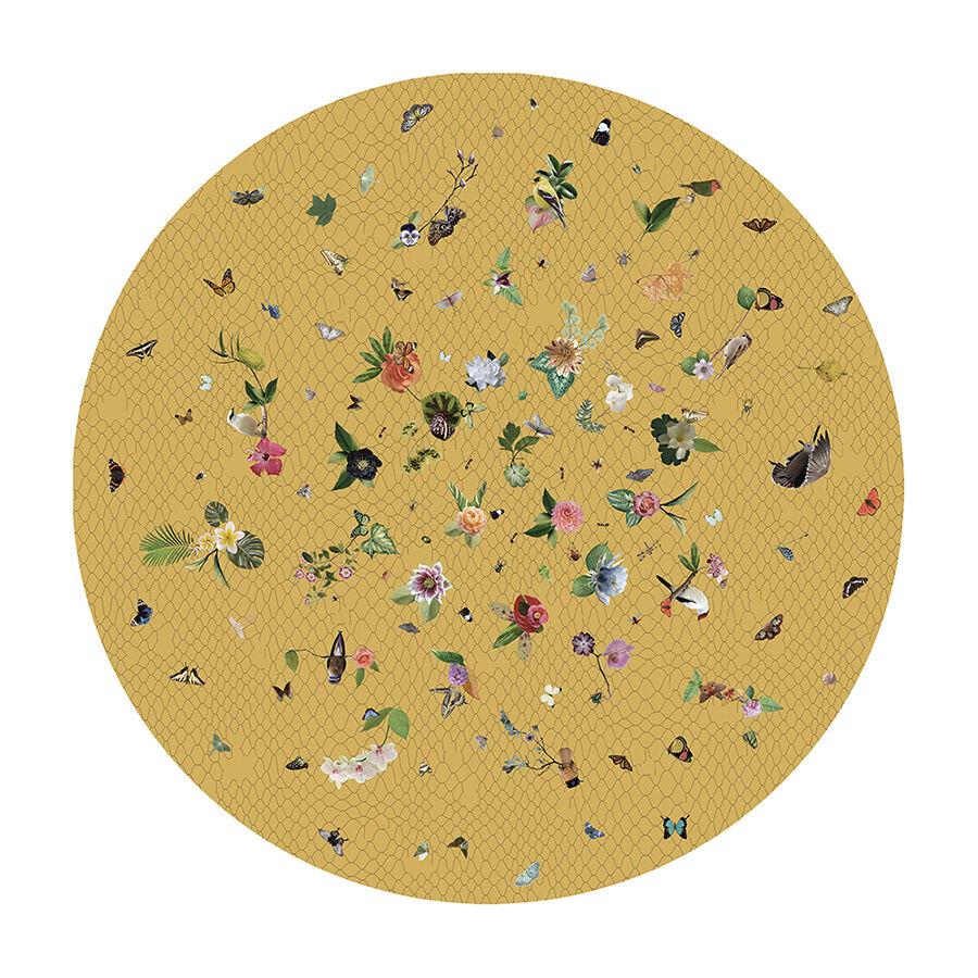 MOOOI CARPETS tappeto GARDEN OF EDEN ROUND Signature collection (Giallo Ø 250 cm - Poliammide)