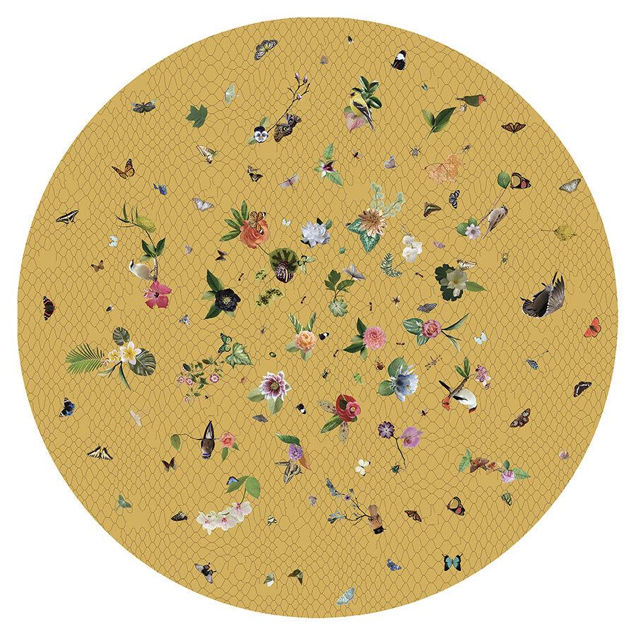 MOOOI CARPETS tappeto GARDEN OF EDEN ROUND Signature collection (Giallo Ø 350 cm - Poliammide)