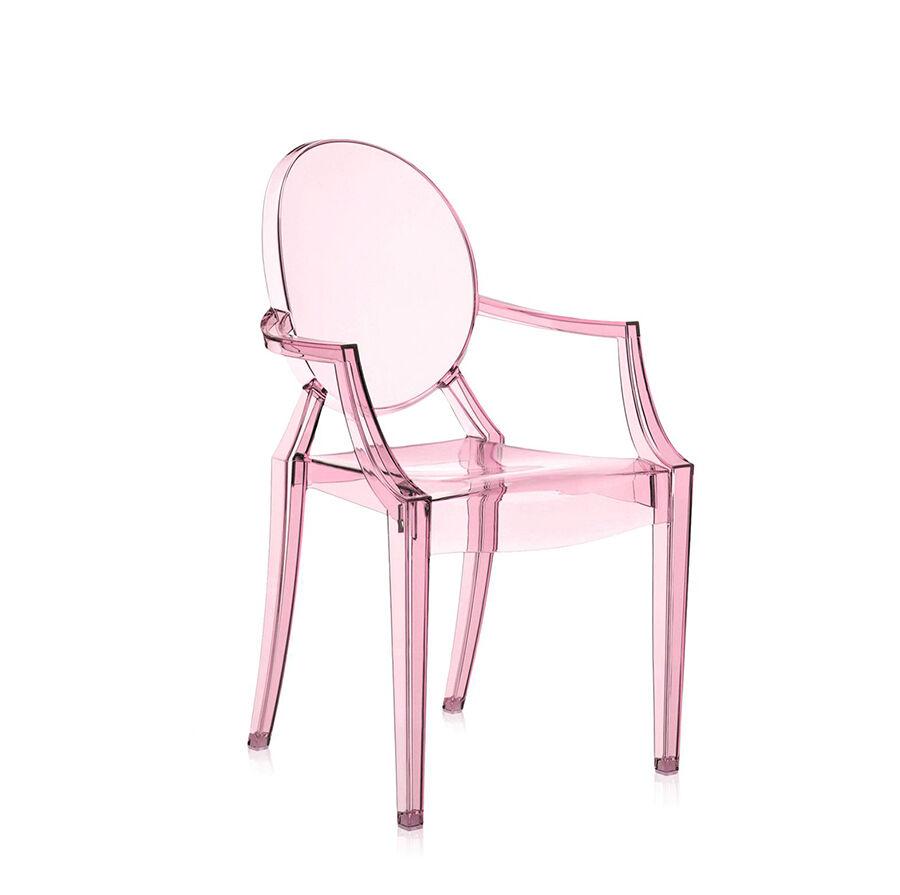 KARTELL sedia per bambini LOU LOU GHOST (Rosa - Policarbonato trasparente)