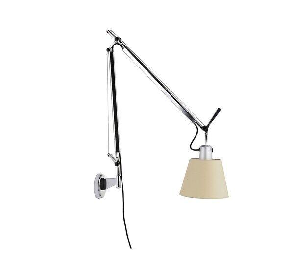 Artemide lampada da parete TOLOMEO BASCULANTE (Diffusore in raso ø 180 mm - Alluminio)