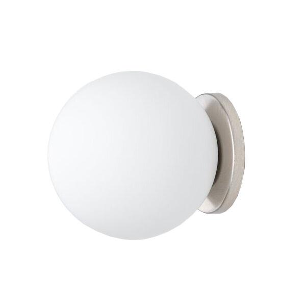 FONTANA ARTE lampada da parete o soffitto PALLINA (Nickel - Vetro soffiato satinato e metallo galvanizzato)