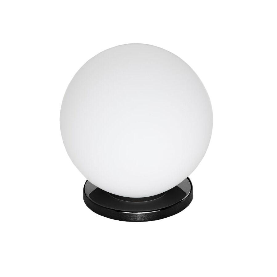FONTANA ARTE lampada da tavolo PALLINA (Nero - Vetro soffiato satinato e metallo galvanizzato)